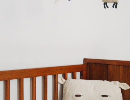 crib with mobile