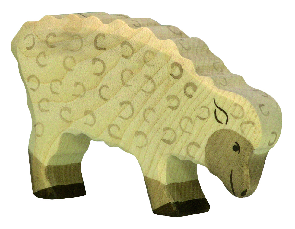 Holztiger White Sheep Eating Image