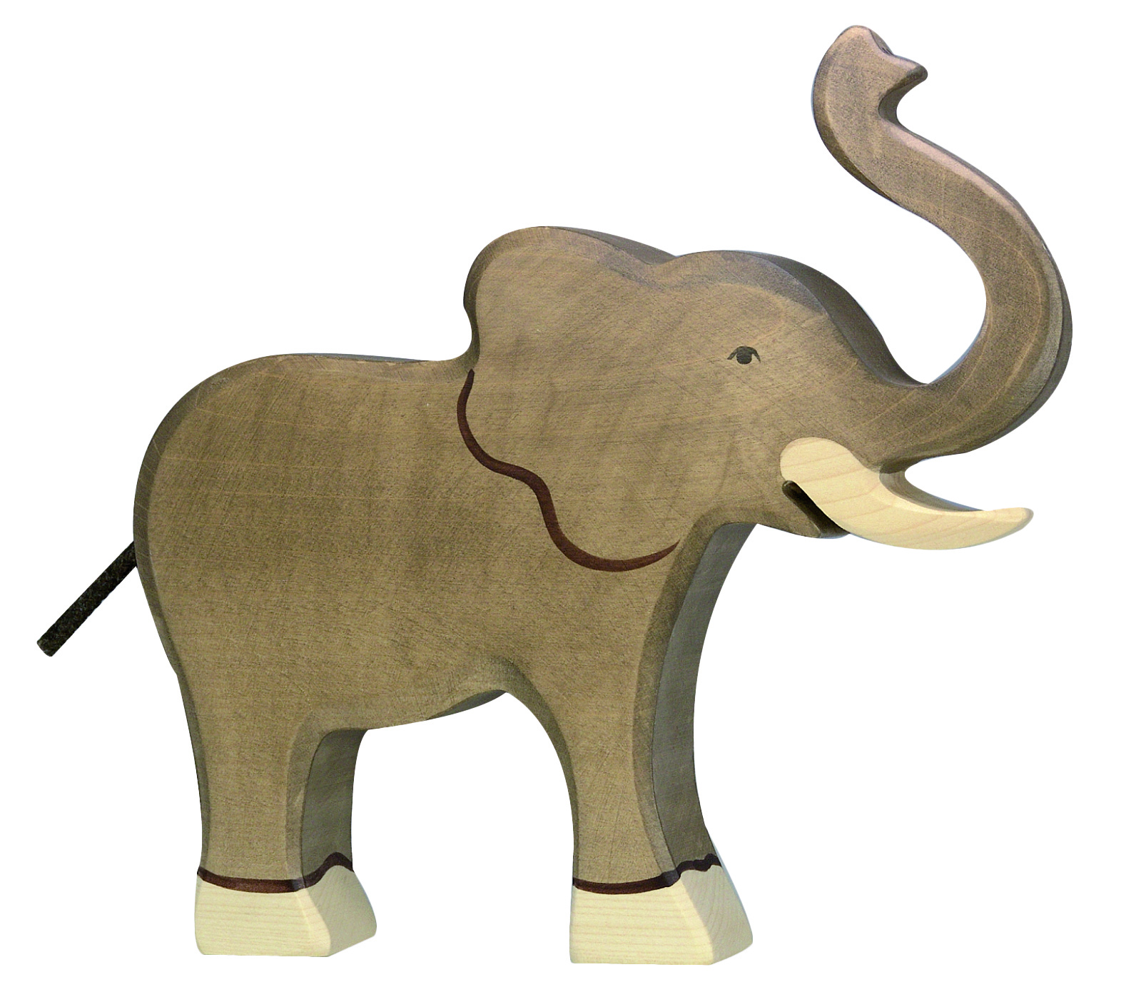 Holztiger Elephant with Trunk Raised Image