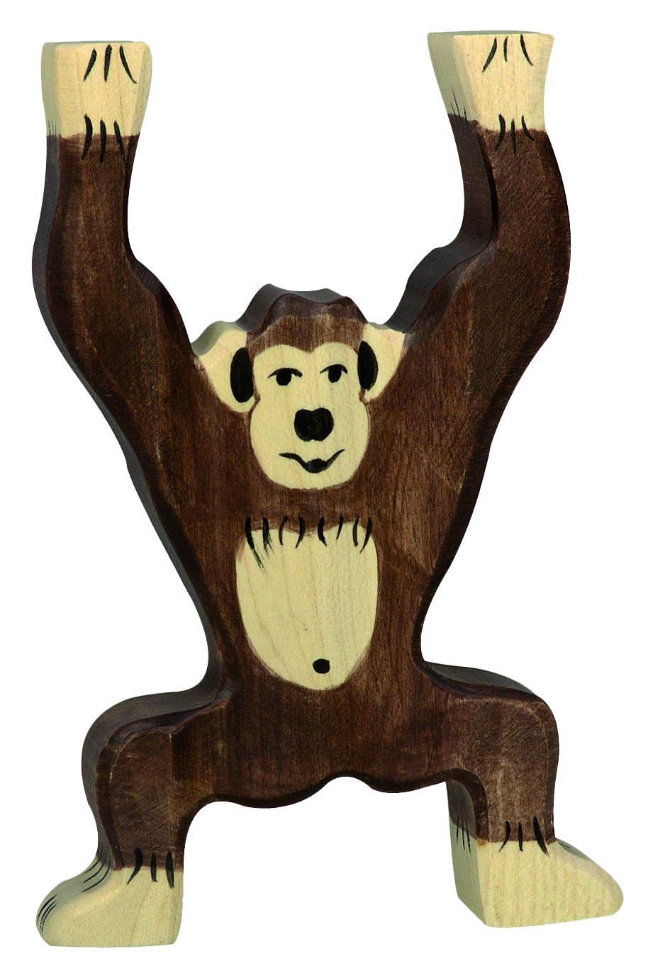 Holztiger Chimpanzee Standing Image