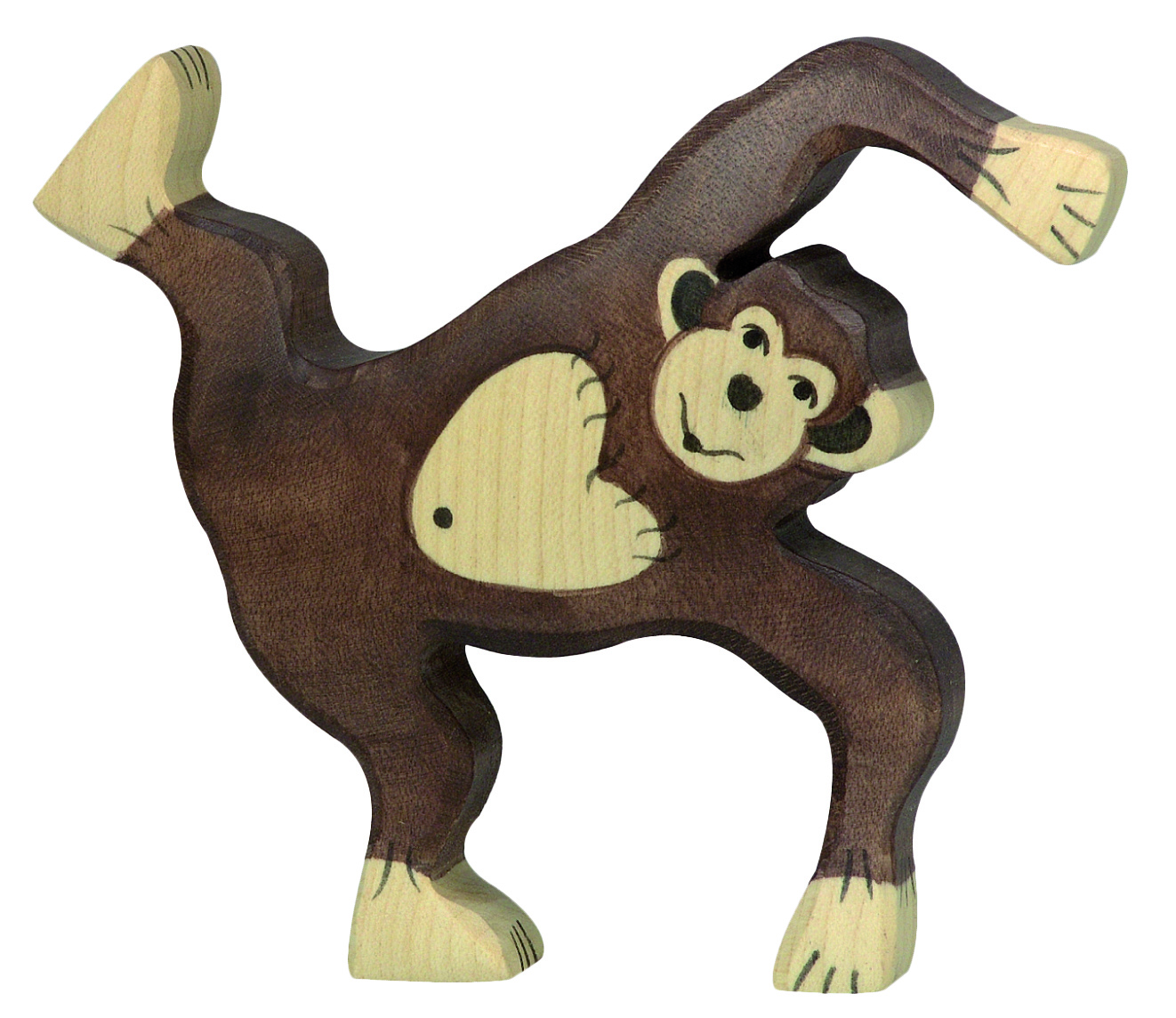 Holztiger Chimpanzee Playing Image