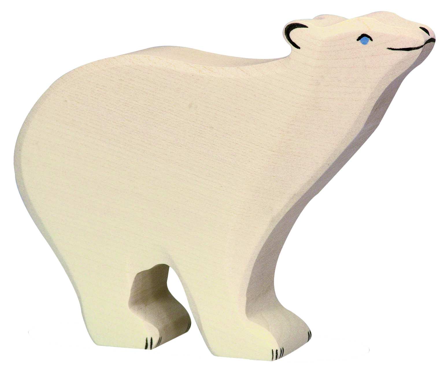 Holztiger Polar Bear Head Raised Image